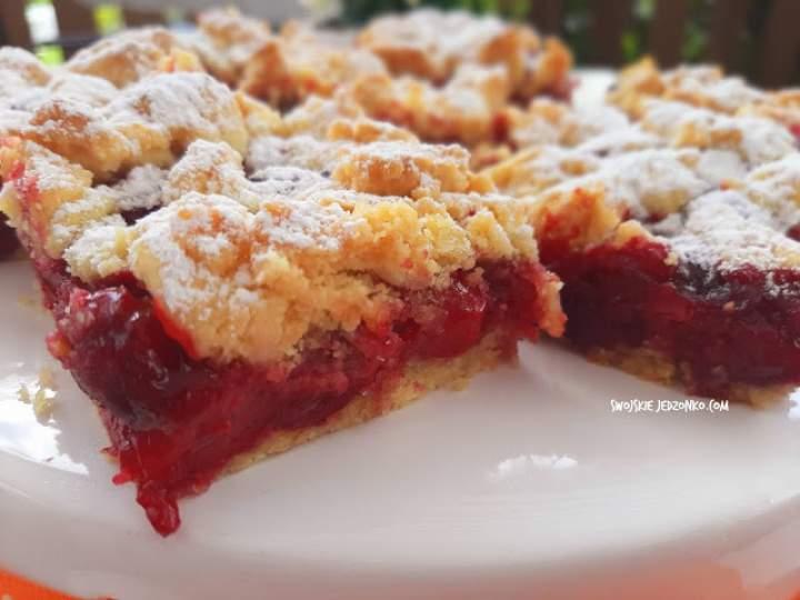Kruche ciasto z wiśniami- najlepszy przepis
