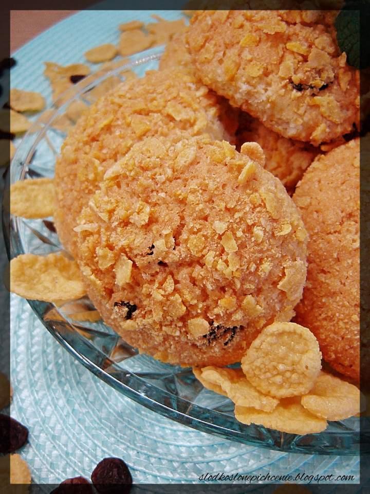 Ciastka kokosowe z płatkami kukurydzianymi