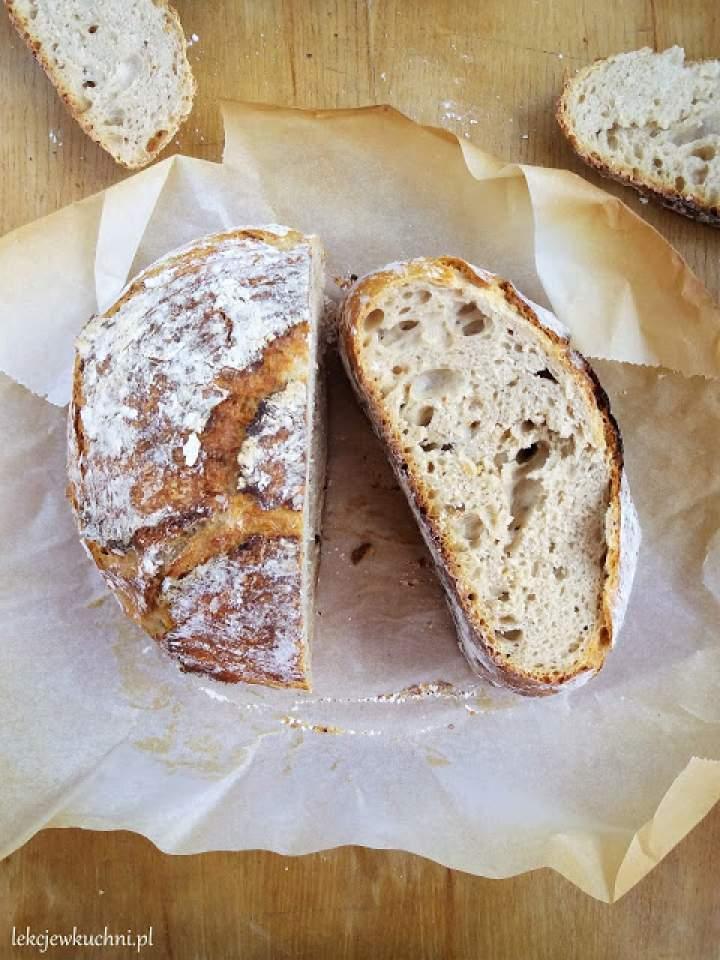 Chleb nocny na zakwasie (z garnka) / Overnight Sourdugh Bread