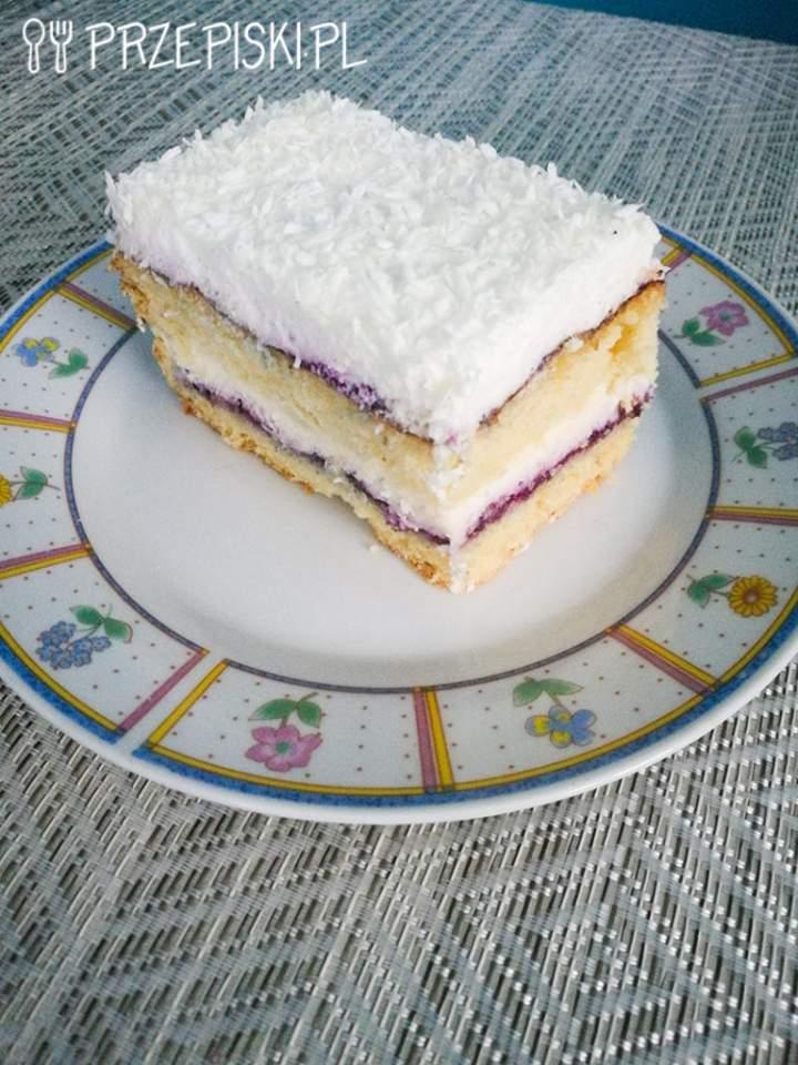 Ciasto Śmietankowe z Musem Porzeczkowym