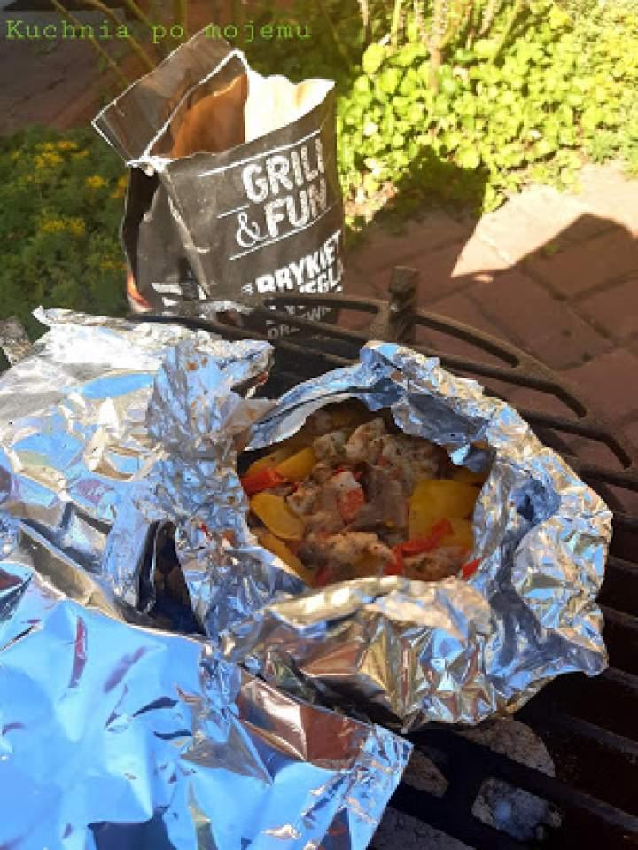 Kieszonki mięsno warzywne z grilla na ostro zamiast szaszłyków