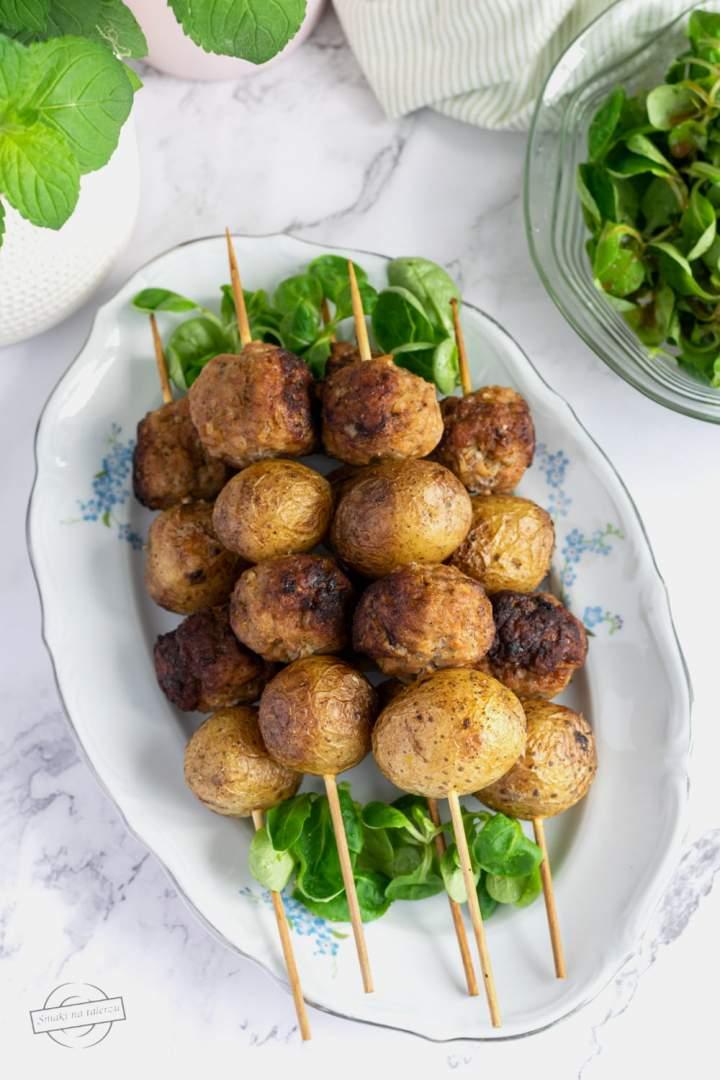 Szaszłyki mięsno-ziemniaczane