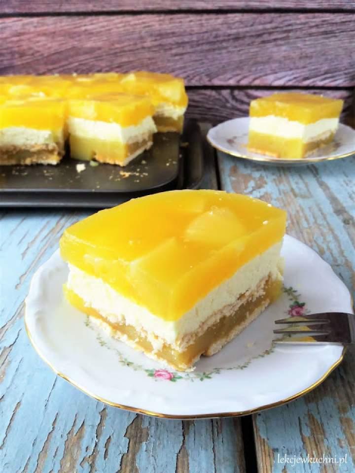 Ciasto Tropikana bez pieczenia / No Bake Tropicana Cake