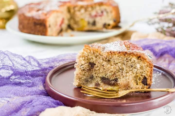 Ciasto Śliwkowe Z Orzechami I Czekoladą