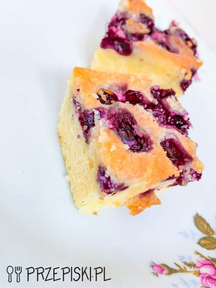 Ciasto Maślane z Borówkami
