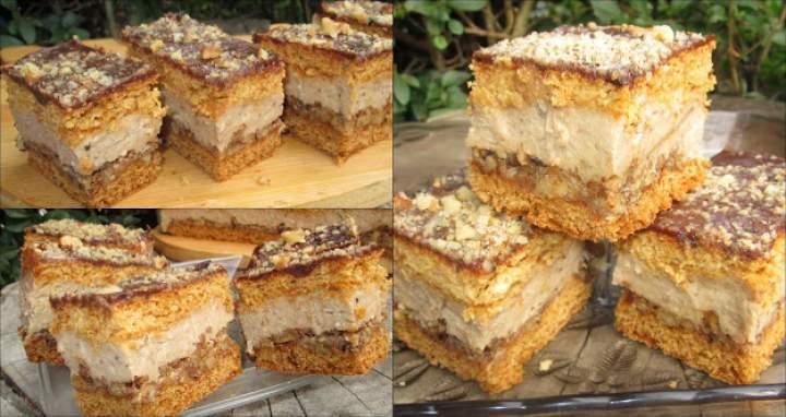 Miodowy orzechowiec z kremem orzechowym +FILM-wspaniałe ciasto na każdą okazję
