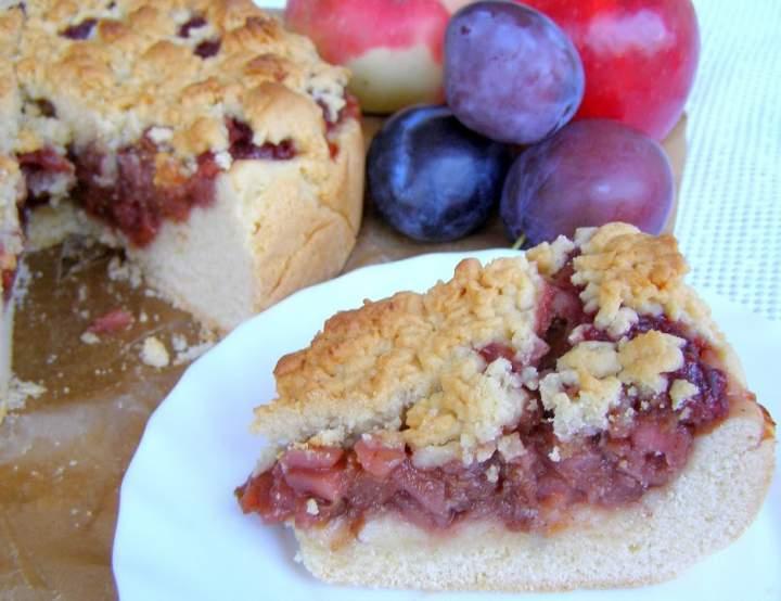 kruche ciasto jabłkowo-śliwkowe…