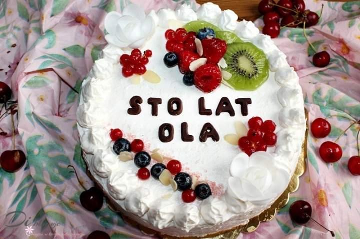 Tort uniwersalny z malinową nutą (biszkopt jasny i ciemny)