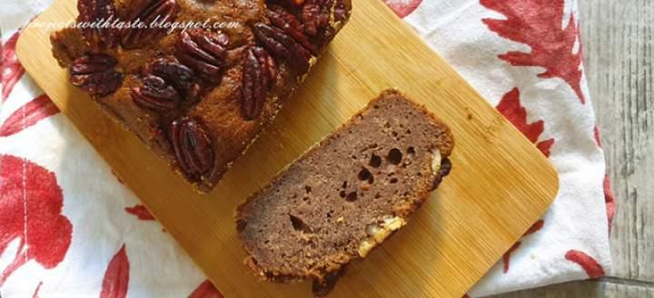Ciasto bananowo – kakaowe z orzechami / Banana and cocoa cake with nuts