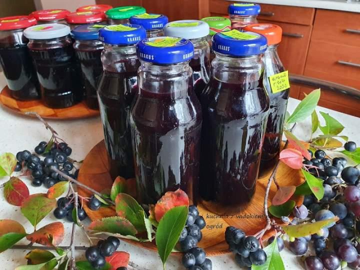 Sok z aronii i winogron na zimę. Domowe przetwory.