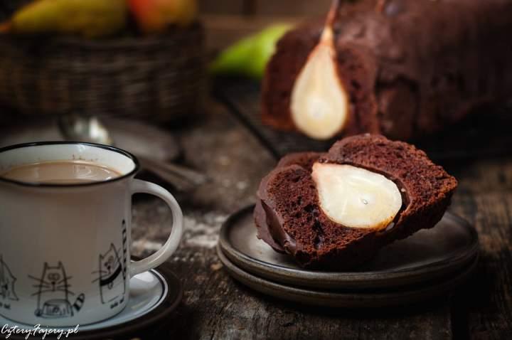 Ciasto czekoladowe z gruszkami