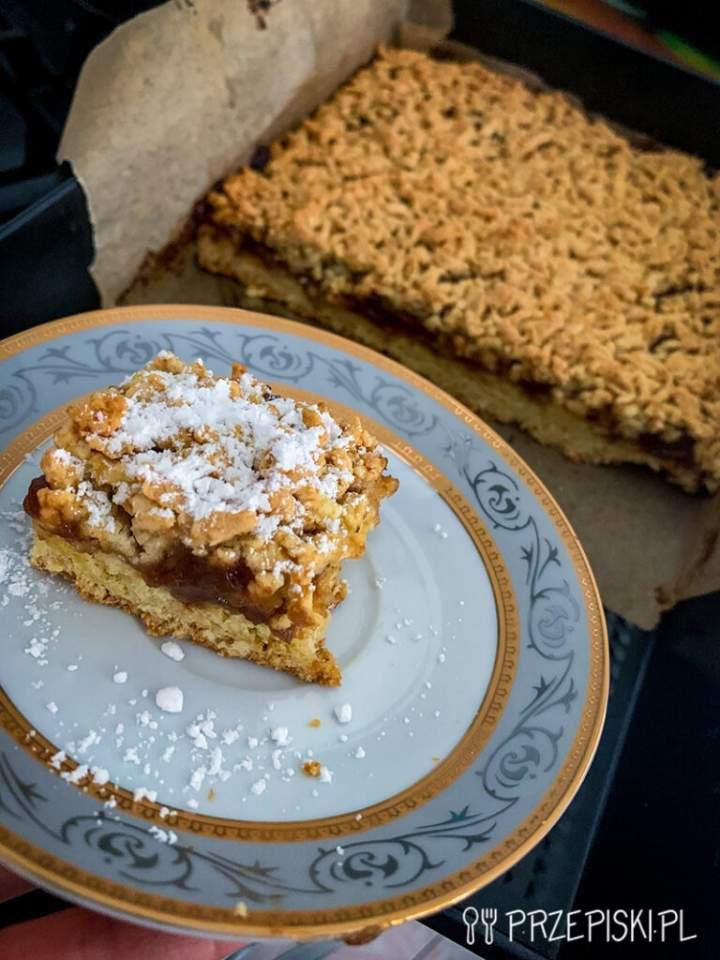 Ciasto Ucierane z Powidłem Jabłkowym