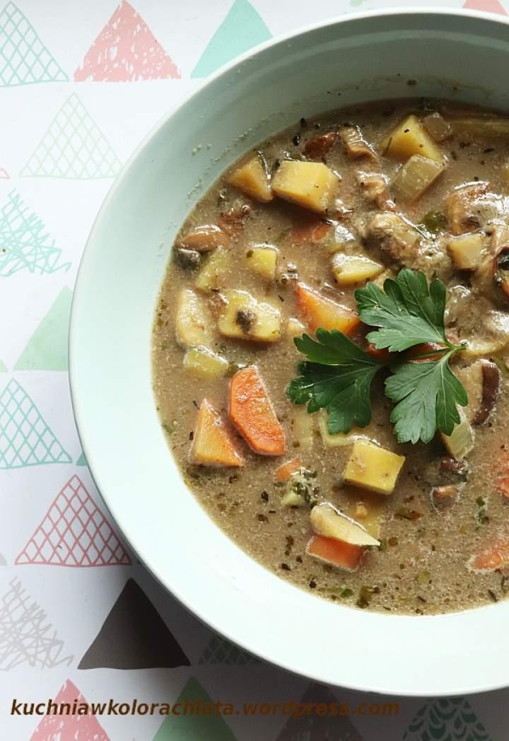 Zupa borowikowa z ziemniakami