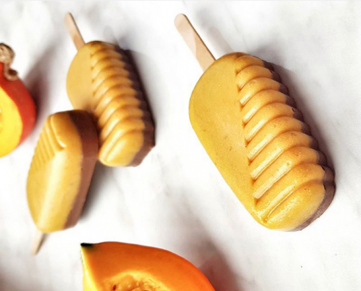 dynia + banan + śmietanka