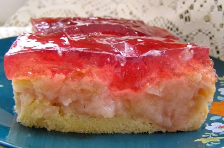 łatwe, szybkie ucierane ciasto jabłkowe z galaretką…