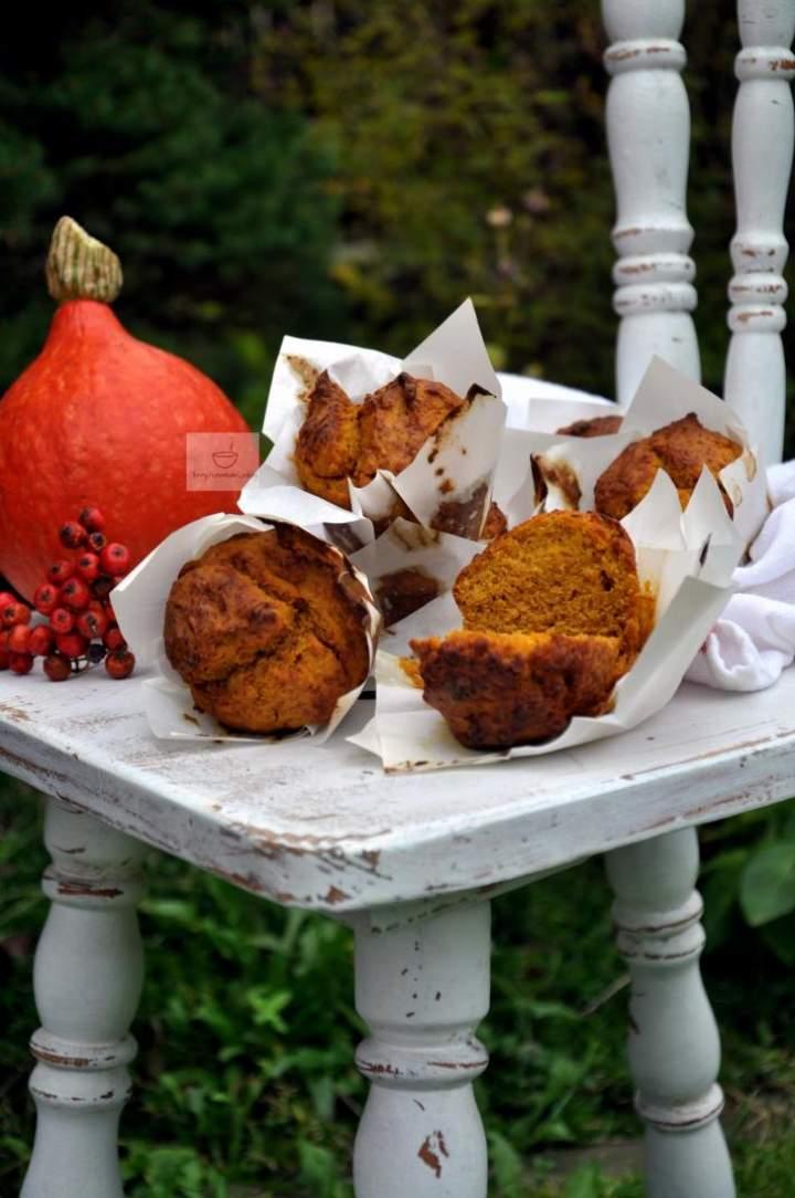 Muffiny dyniowe- orkiszowe