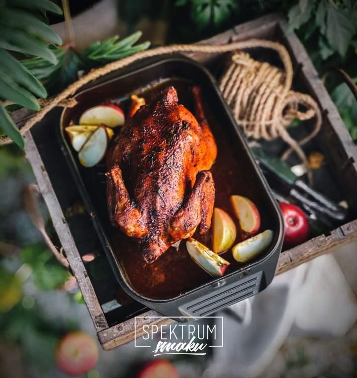 Kurczak pieczony w ziołach i winie