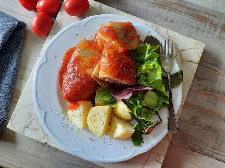 Tradycyjne gołąbki z mięsem