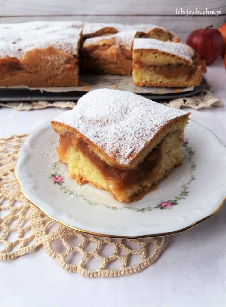 Jabłecznik ucierany z musem jabłkowym / Polish Apple Cake