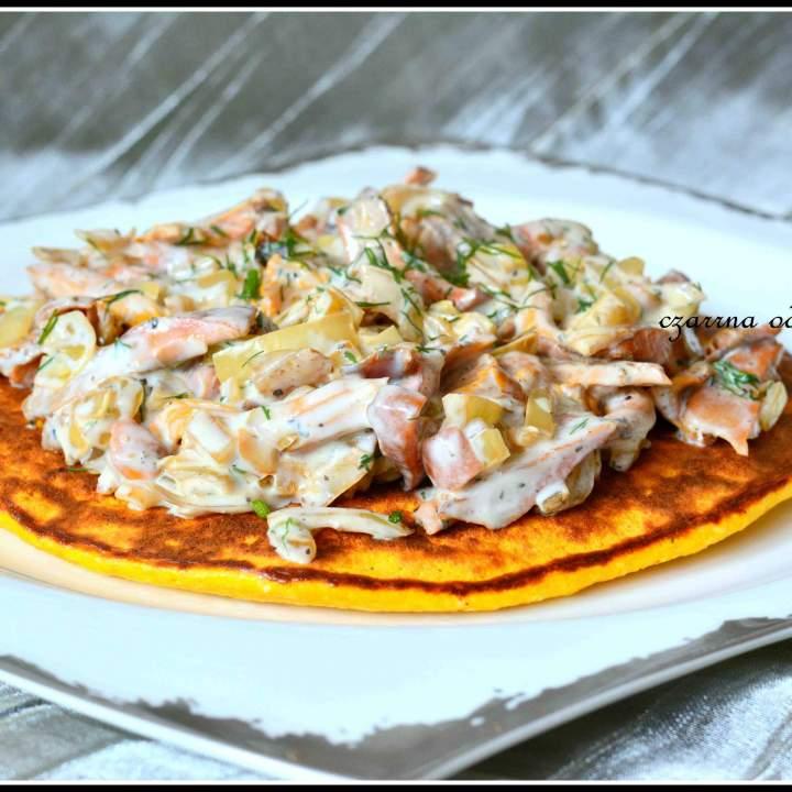 Omlet dyniowy z grzybami