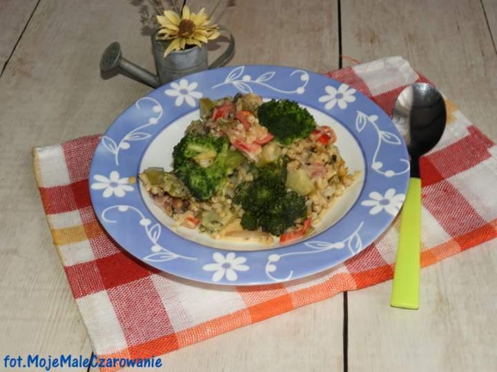 Potrawka z sorgo i brokuła