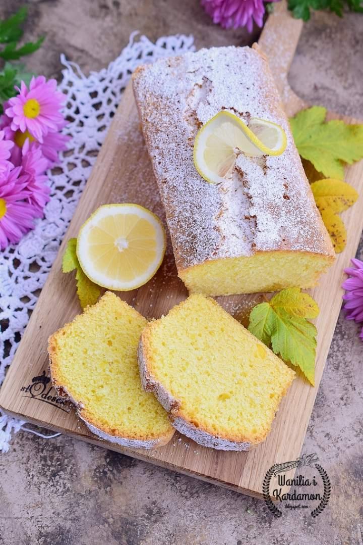 Ucierane ciasto cytrynowe- najprostrzy przepis!