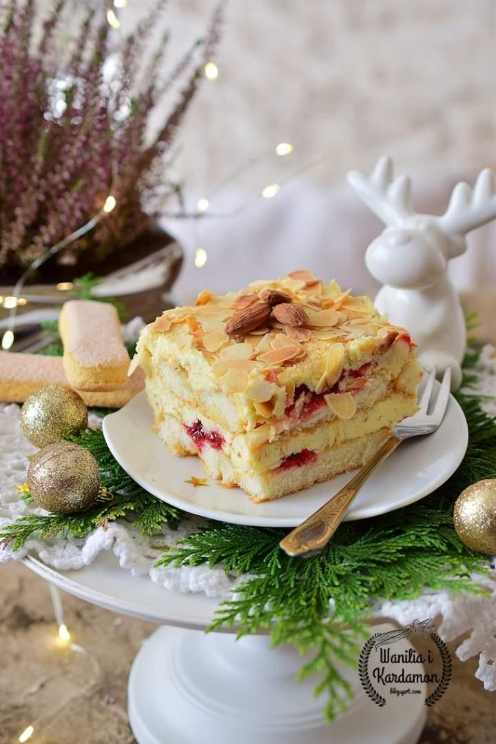 Torcik Malakoff-Austriacki tort migdałowy