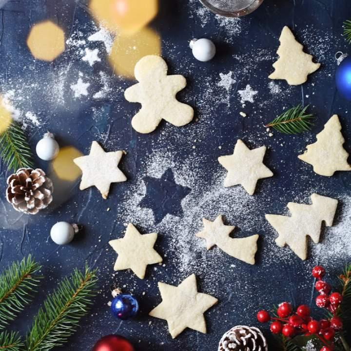 Włoskie świąteczne ciasteczka migdałowe