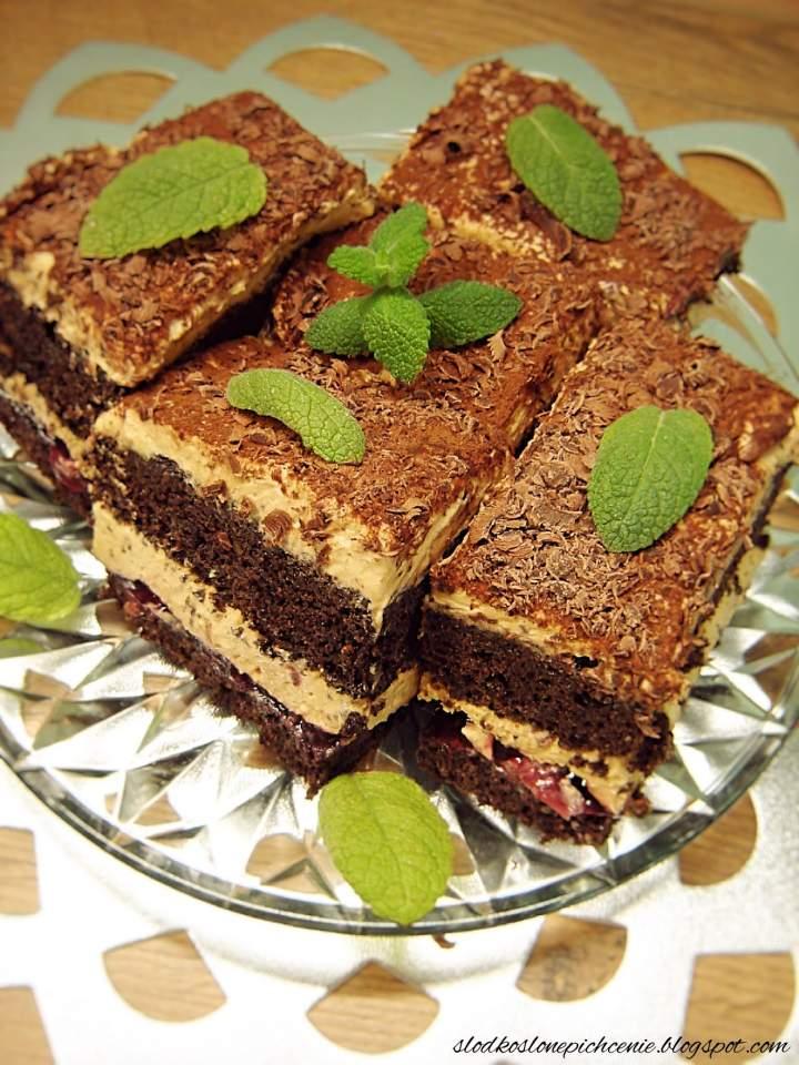 Ciasto makowe z kremem kajmakowym