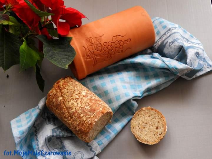 Chleb pszenno – orkiszowy z czosnkiem niedźwiedzim ze słoika