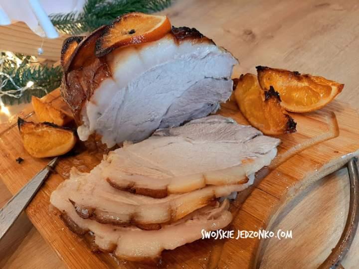 Świąteczna szynka pieczona w miodzie i pomarańczach
