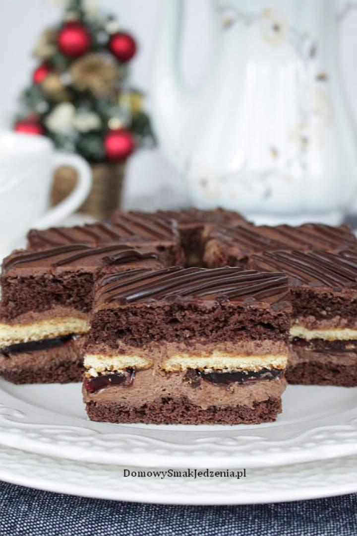 ciasto czekoladowe z delicjami
