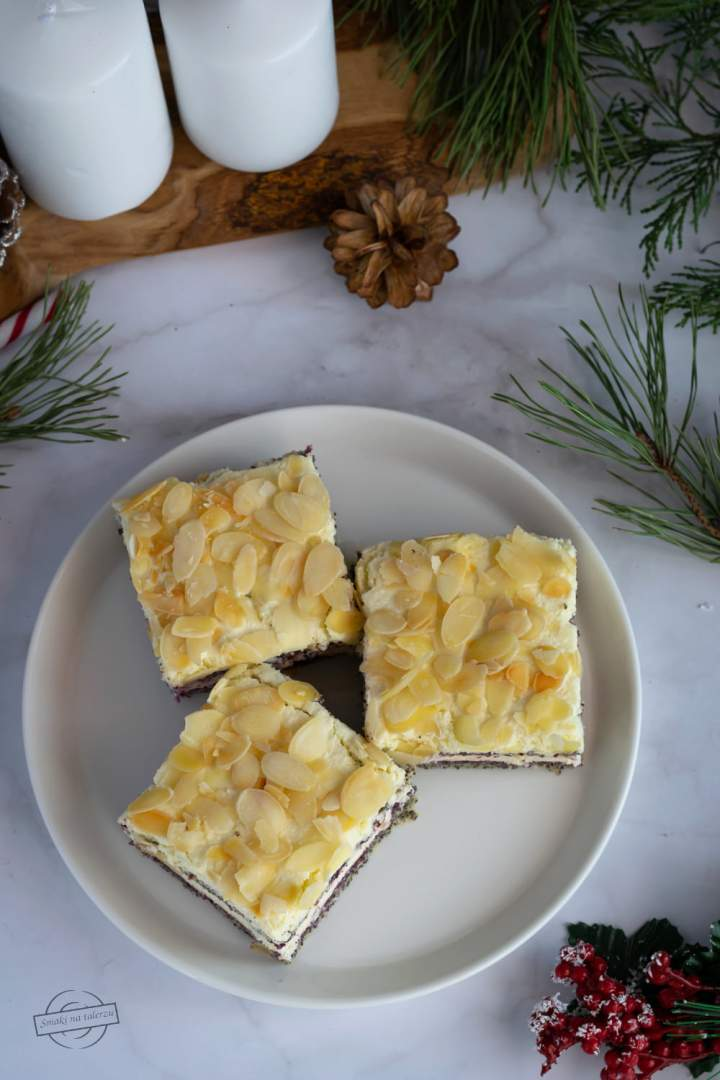 Ciasto makowe z dżemem i masą z serka homogenizowanego