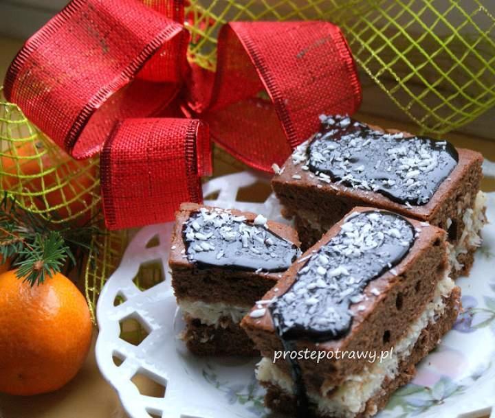 Placek kakaowy z kokosem