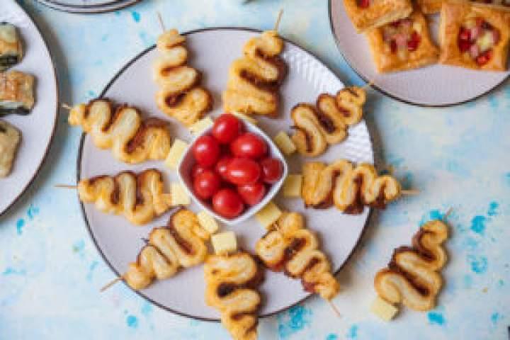 Choinki z ciasta francuskiego