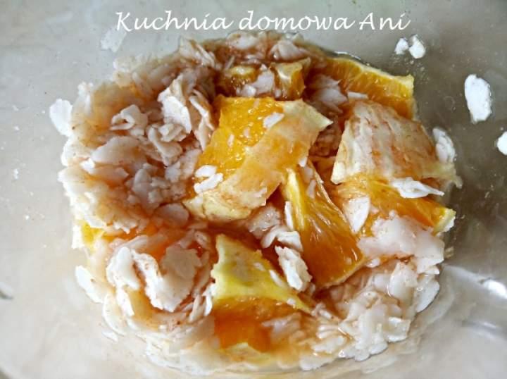 Płatki ryżowe z pomarańczą