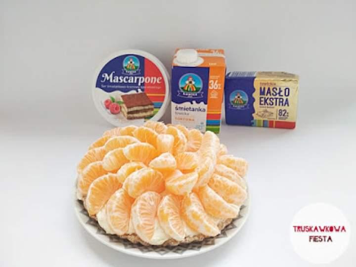 Pełnoziarnista tarta z mascarpone i mandarynkami