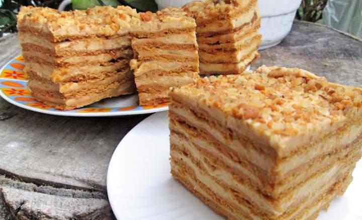 Ciasto Marlenka-miodowo-kajmakowe. Niepowtarzalny smak, rozpływa się w ustach +FILM