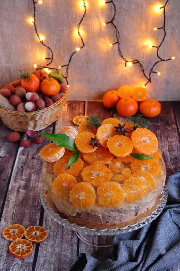 Tort czekoladowy z mandarynkami