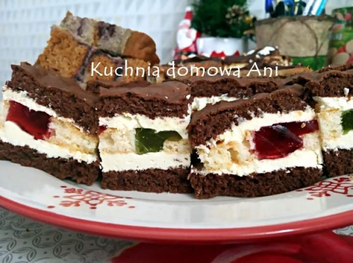 Ciasto mojego dzieciństwa – biszkoptowe z galaretkami