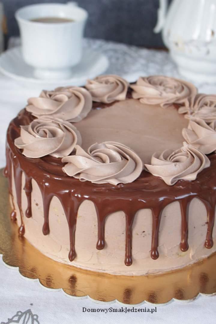 tort czekoladowo kokosowy z masą kawową
