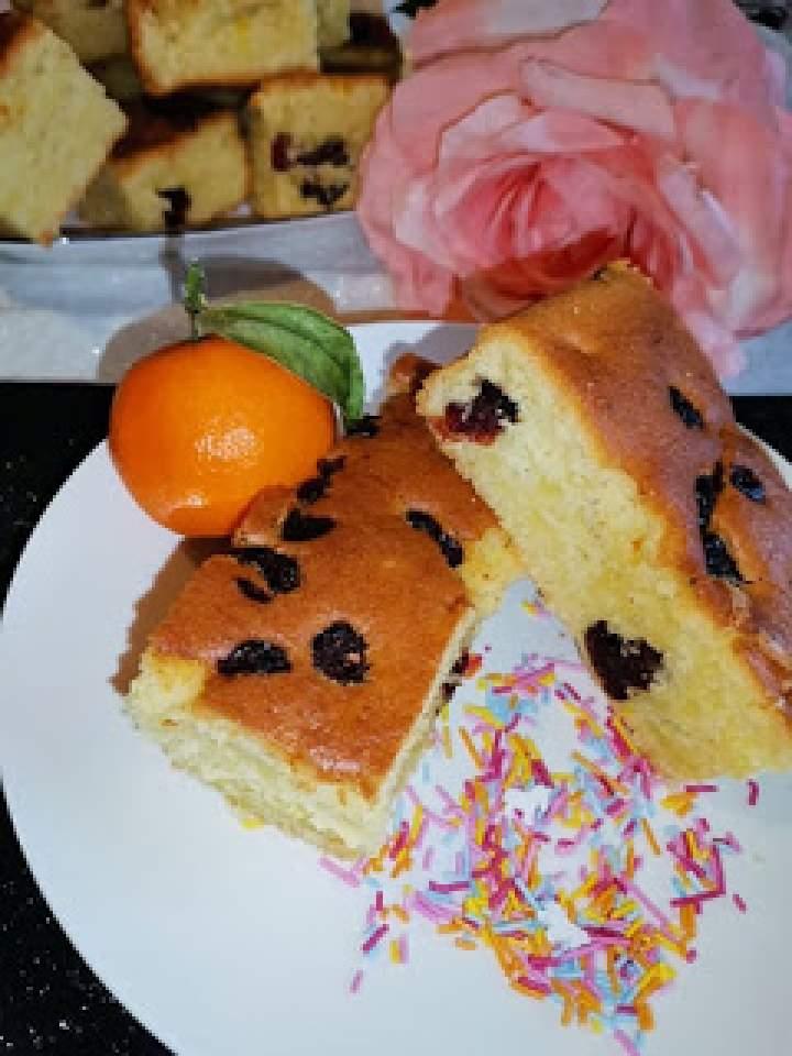 """Ciasto """" Żurawinowy kisielek """"."""