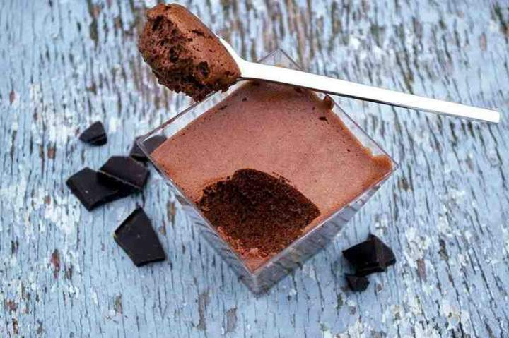 Wegański mus czekoladowy z aquafaby.