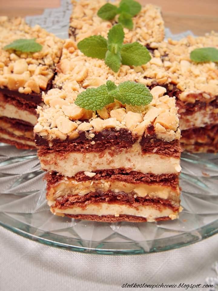 Ciasto Snickers (bez pieczenia)