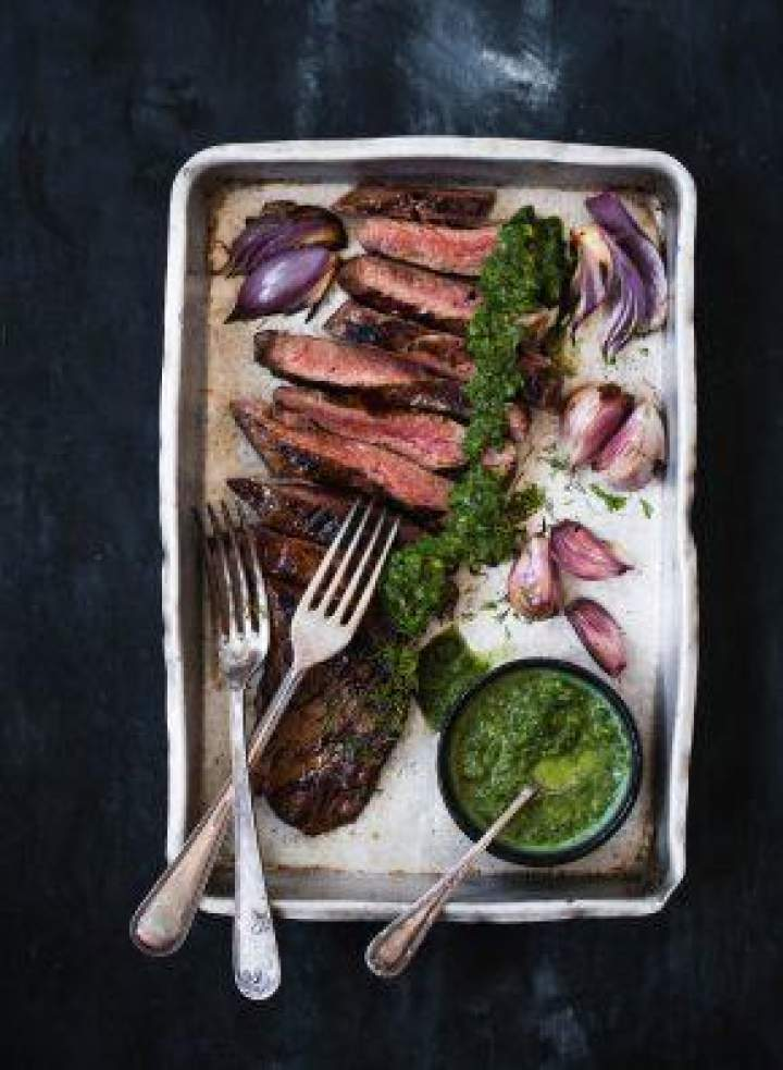 Stek z pesto koperkowym