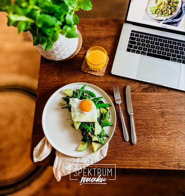 Szybkie zielone keto śniadanie