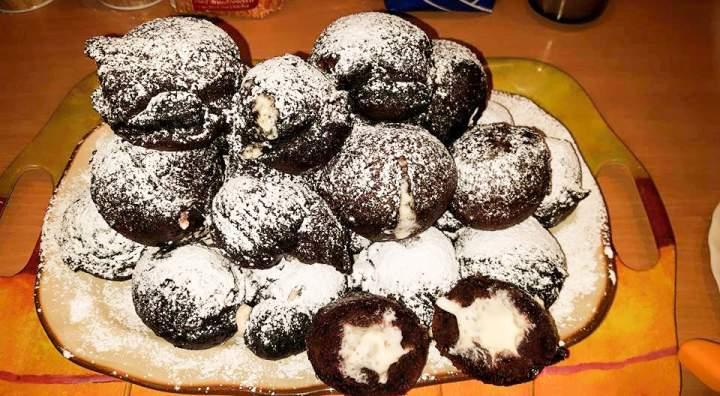 Pączki czekoladowe  z mascarpone