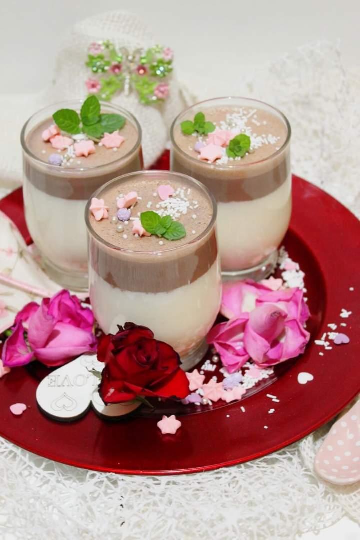 Serniczki z musem czekoladowym – deser od serca
