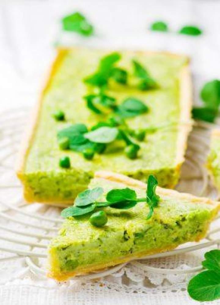 Tarta z zielonym groszkiem i warzywami