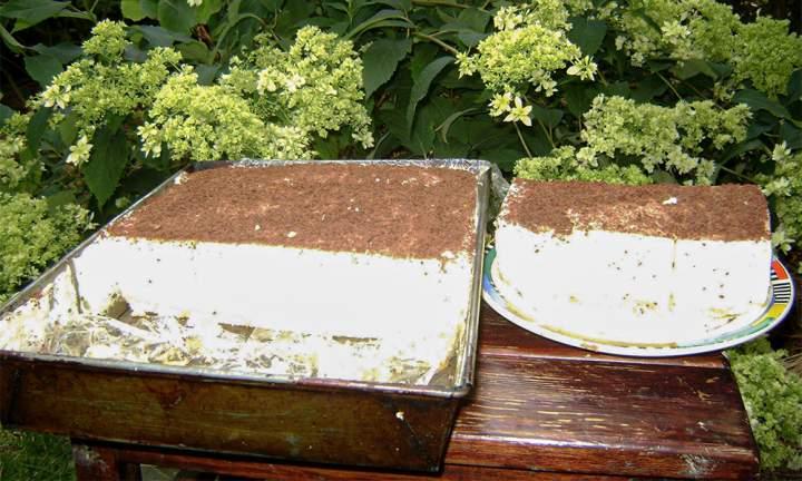 Ciasto pianka na herbatnikach